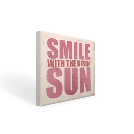 Smile with the Rising Sun – 30 x 30cm from Typo Lyrical Prints - R329 (Save 0%)