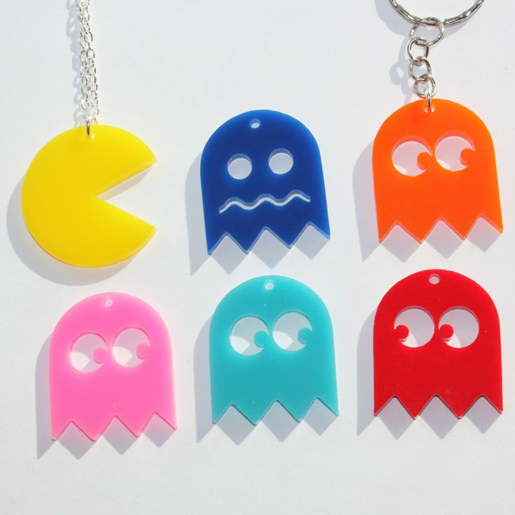 """Who to choose out of your big group of friends to give the other half of the friendship necklace to? Forget that! This friendship necklace set has up to six unique pieces!  The pendants are made of laser cut acrylic, which is a lightweight plastic. Each piece is roughly 1.25"""" x 1.25"""".  Every ..."""