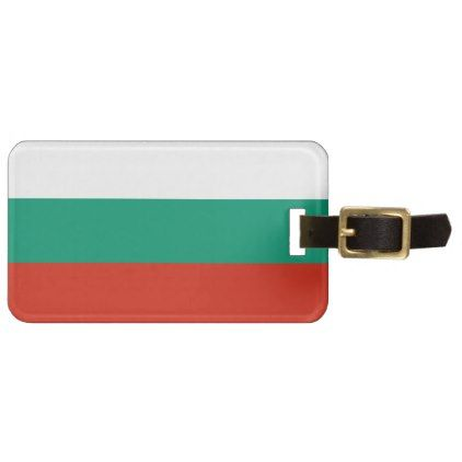 #Patriotic Bulgarian Flag Luggage Tag - #travel #accessories