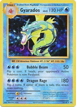 Gyarados 34/108 XY Evolutions, Holo - The Pokemart - 1