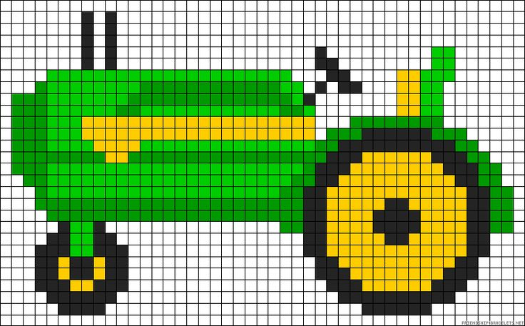 https://www.pinterest.com/barbc67/plastic-canvas/ Tractor perler bead pattern