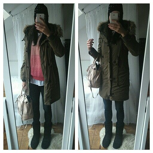 Parka, winter outfit, ugg shoes, ugg boots