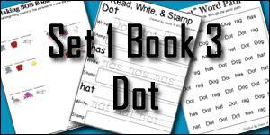 BOB Books Printables: Set 1 Book 3 Dot - 3Dinosaurs.com