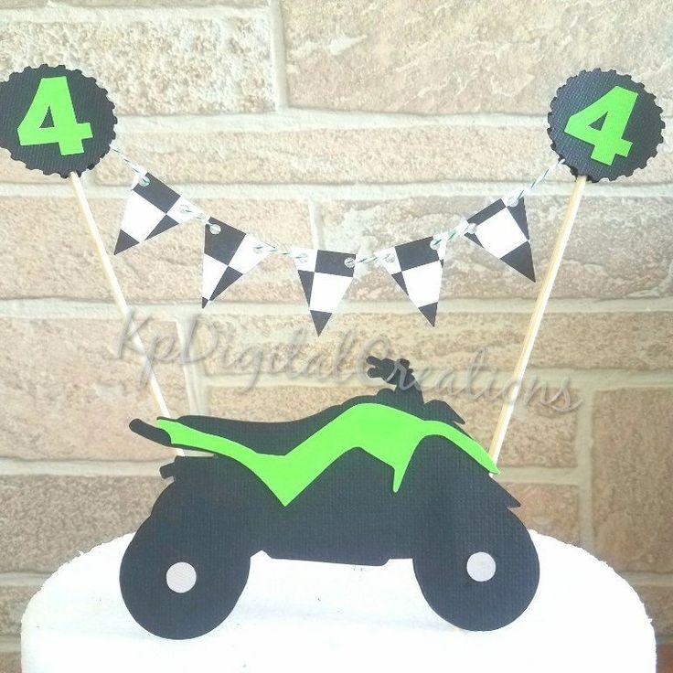 4 wheeler Cake topper, atv cake topper, quad cake topper, 4 wheeler birthday, quad birthday, motocross birthday, motocross cake topper, dirtbike birthday cake topper, 4 wheeler birthday, Racing birthday cake topper, motorcycle birthday cake topper