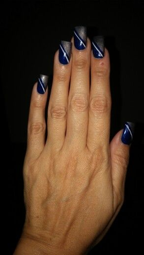 My own Dallas Cowboys nails!