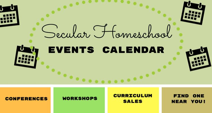 Find secular homeschool conferences, conventions, and other organized events near you!!