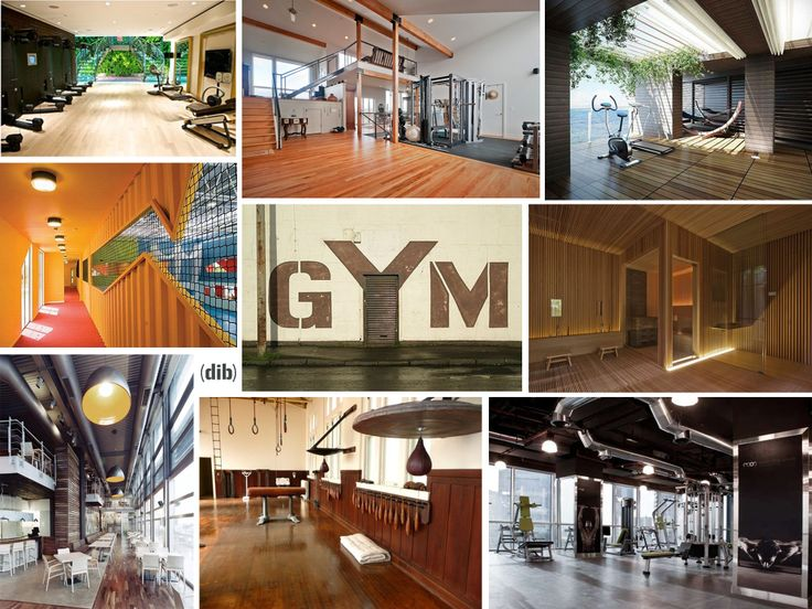 Design gyms picture collage by diseño interior bruto