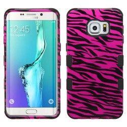 Samsung S6 Edge+ Hybrid Tuff Design Hot Pink Zebra