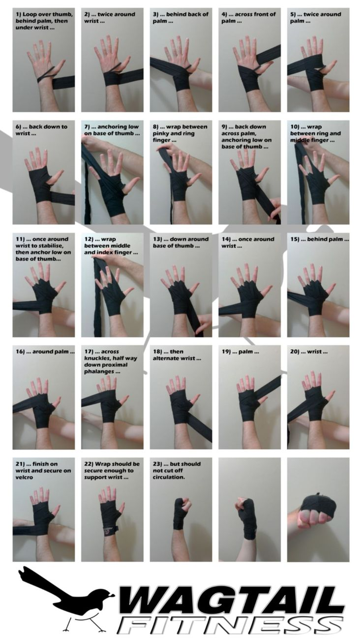 How to wrap your hands for boxing   Wagtail Fitness