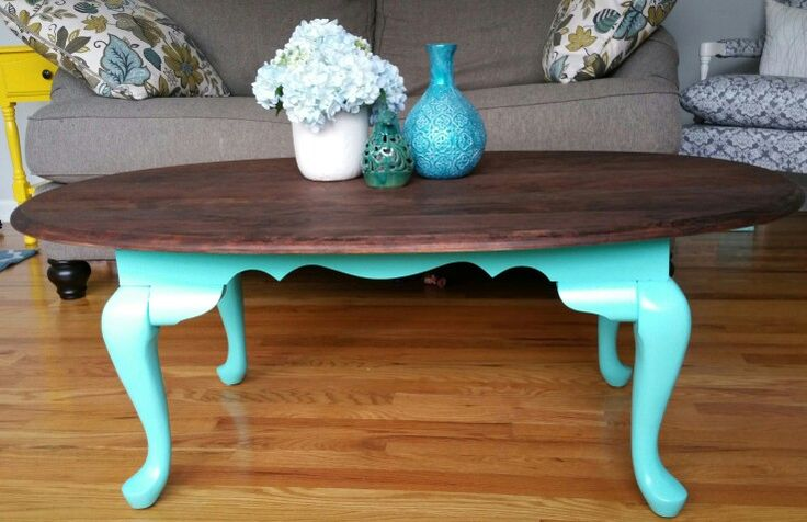 Oval Antique Coffee Table Redo