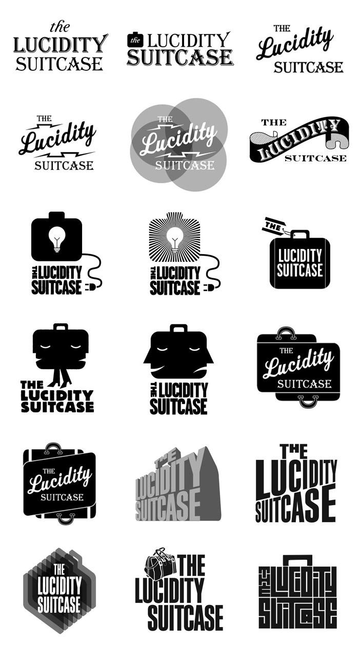 18 different logo options...surely narrowed down from hundreds of ideas.