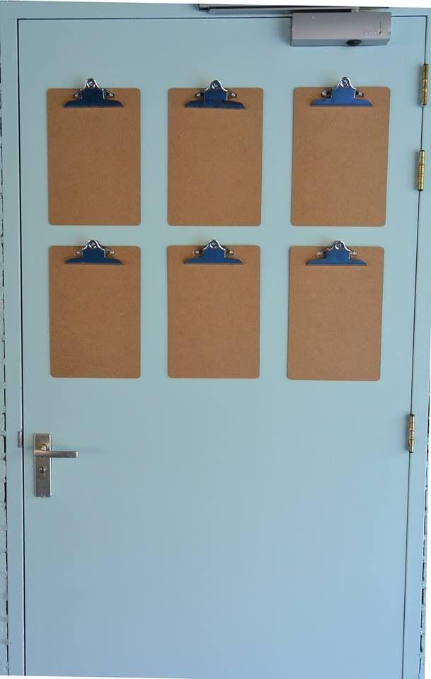 Klemborden (Sostrene Grene) om tekeningen aan op te hangen.