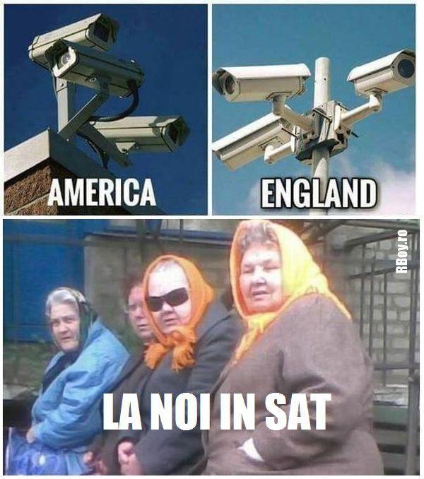 Camere de supraveghere - America, Anglia Vs. la noi in SAT