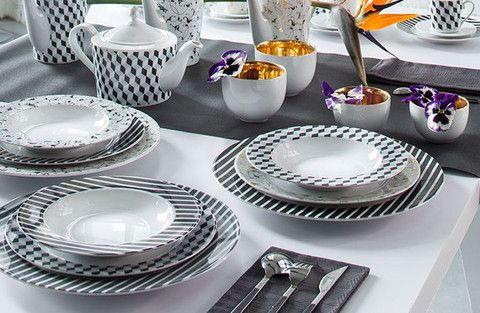 #designer  #tableware #crockery #modern #blackandwhite #handmade #goldencup
