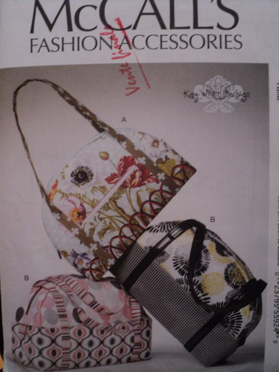 Man Cave Uncut : Sewing pattern bag tote purses new uncut purse