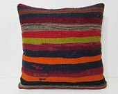 24x24 kilim pillow 24x24 patio pillow case euro sham unique throw pillow ethnic pillow seat pillow house decor sofa pillow case stripe 25489