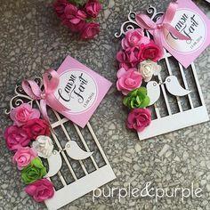 Ahşap kuş kafesi magnet nikah şekeri | Purple & Purple
