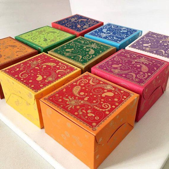 Cake Box Wedding Favor Indian Cupcake