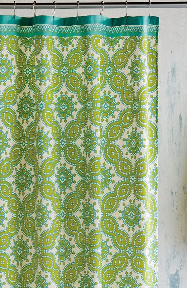 John Robshaw Moss Green Petra Shower Curtain