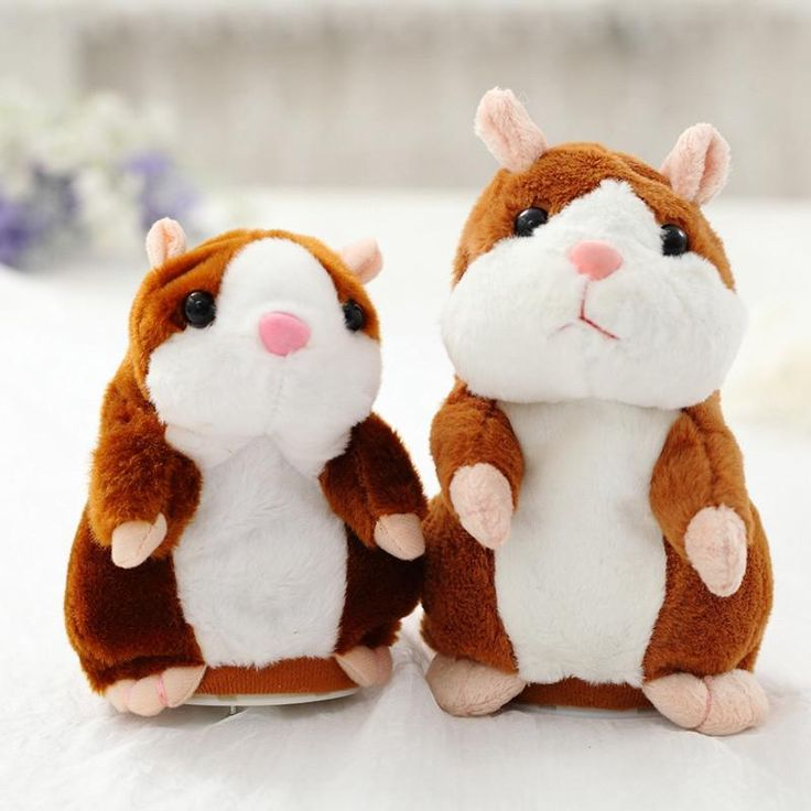 18cm Talking Hamster Plush Toy Can Walking Stuffed Speak Sound Record Hamster Educational Toy Movable Hamster Doll Kids Toy