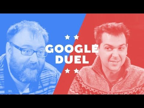 "This Google UK video features Simon and Lewis from Yogscast, a network of YouTube users who produce gaming videos, battling it out in a game of ""Google Duel"" using the search engine's app."