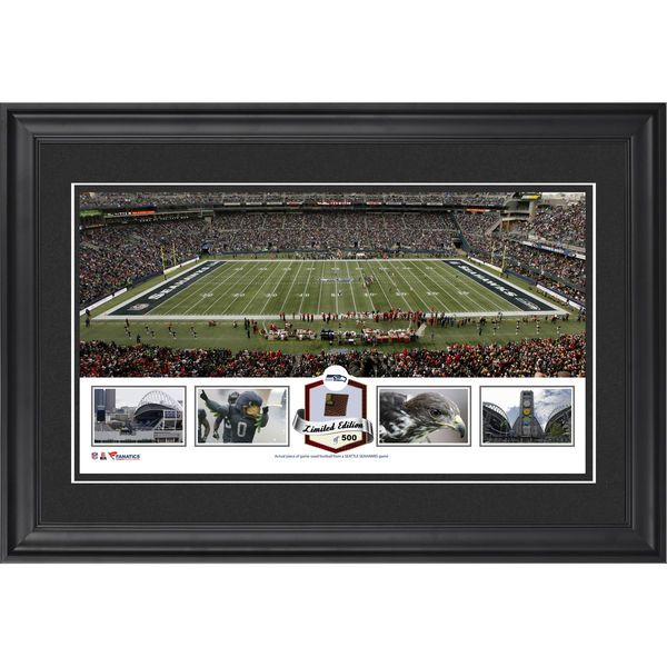 Seattle Seahawks Fanatics Authentic Framed CenturyLink Field Panoramic Collage with Game-Used Football-Limited Edition of 500 - $99.99