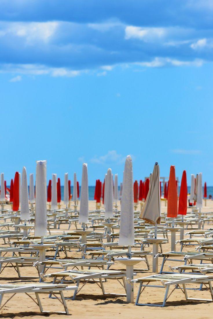 On the Beach in Rimini, Italy  www.hotelpolo.it