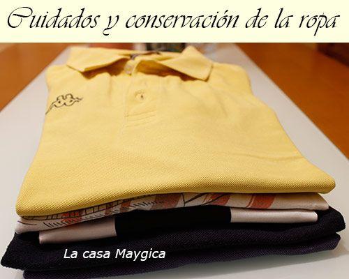 cuidados y conservacion de la ropa