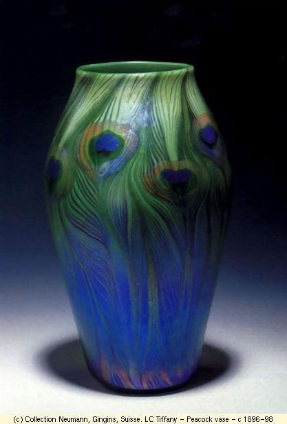 Tiffany Peacock vase: Louis Comforter Tiffany, Peacock Feathers, 1896 1898, Peacocks, Art Nouveau, Tiffany Peacock, Lc Tiffany, Peacock Vase, Art Glasses