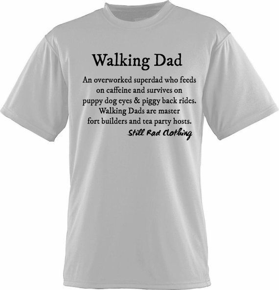 Walking Dad Shirt By Mombie 174 Brand Clothing Size L Vinyl