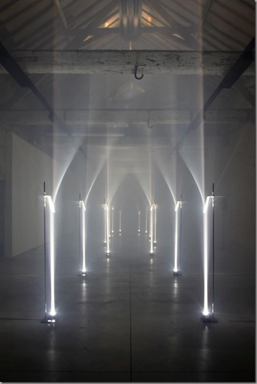14 pillars of light installation - Titled Arcades by TROIKA_SHOAL