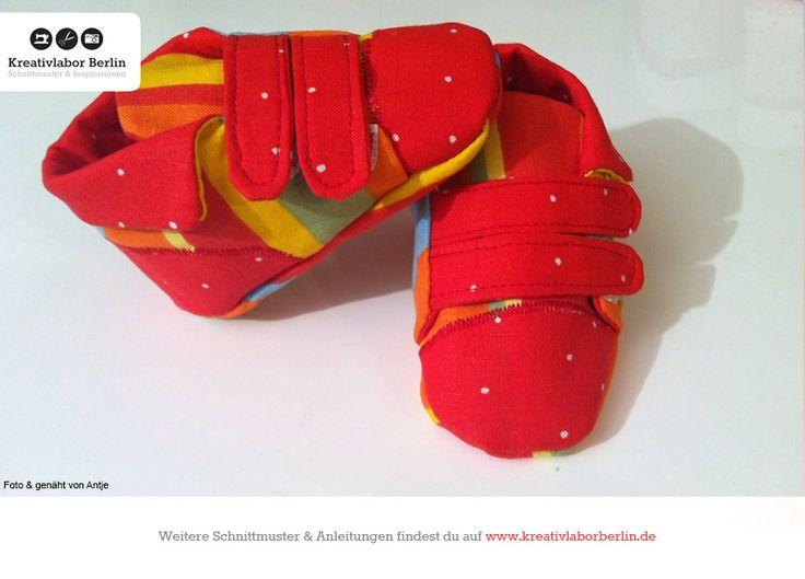 Kinderschuhe mit Klettverschluss, Schnittmuster von Gr. 20 bis 30: http://www.kreativlaborberlin.de/naehanleitungen-schnittmuster/kinderschuhe-mit-klettverschluss-groesse-20-bis-30/