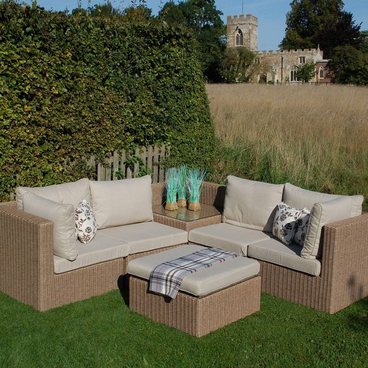 Captivating Saigon Heritage Lowback Modular Set Great For Outdoor Lounging. With Choice  Of Footstool Or Small