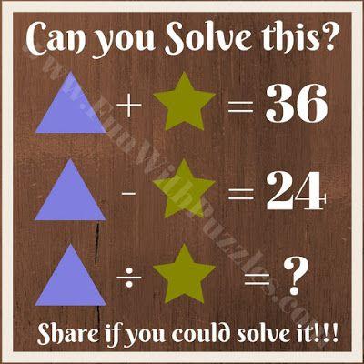Maths brain teaser question for kids