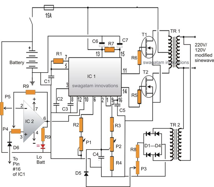 12V Inverter with Regulated Output and Low Battery