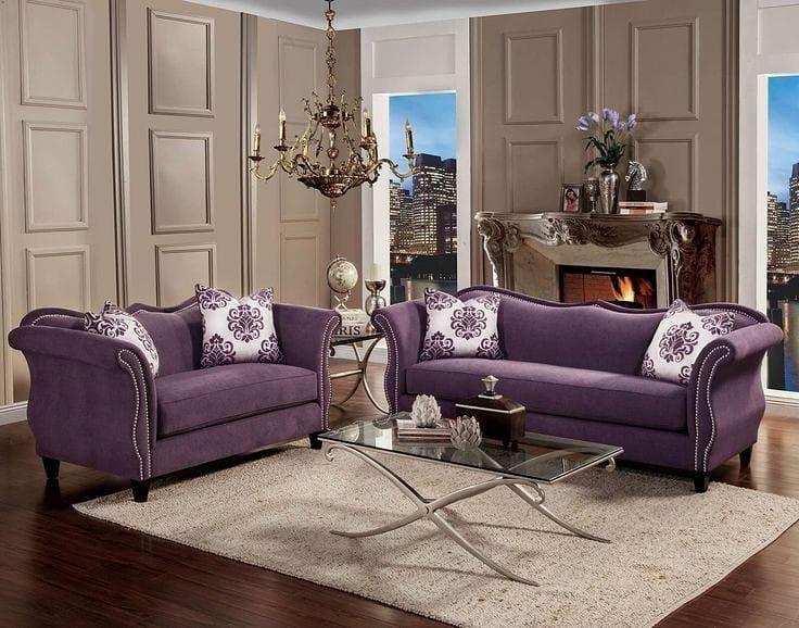 Furniture Cantik Produk Asli Jepara Menerima Pesanan Berbagai Macam Jenis Furniture Sesuai Keing Purple Living Room Classic Furniture Living Room Couch Decor