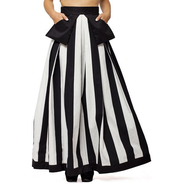 New Collection a Line Striped Maxi skirt/monochrome Maxi... ($108) ❤ liked on Polyvore featuring skirts, grey, women's clothing, cotton maxi skirt, high-waisted maxi skirt, gray maxi skirt, long maxi skirts and striped maxi skirt