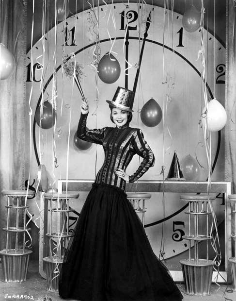 Jane Wyman; Hollywood New Year's publicity photo.