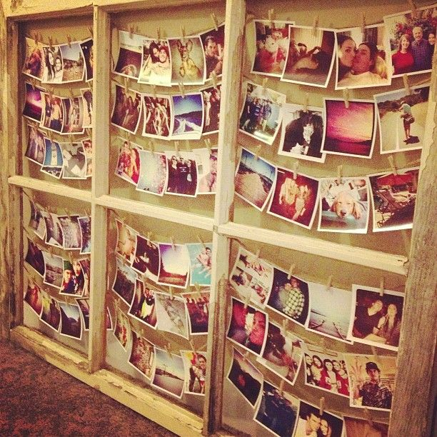 finally made my window picture frame! #diy #foxgram #instagram #crafts #windowframe  Follow @kaylia_fisher on IG for more DIY ideas!