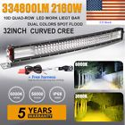 """Quad Row 32inch 2160W Curved Led Light Bar Combo Offroad Jeep Ford Truck UTE 36"""""""