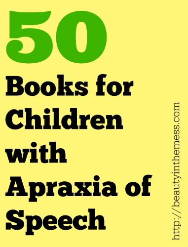 50 Repetitive Books for Children with Apraxia of Speech