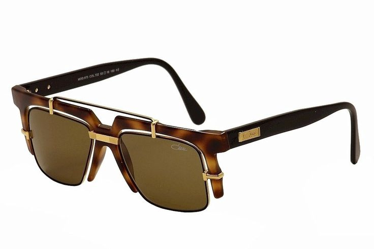 Cazal Sunglasses 873 Col. 722 Havana Gold Frame Brown Lens. Frame/Temple Color: Tortoise/Gold - 722. Lens Color: Brown. Style: Fashion Vintage Retro Square. Gender: Unisex. Made In: Germany.