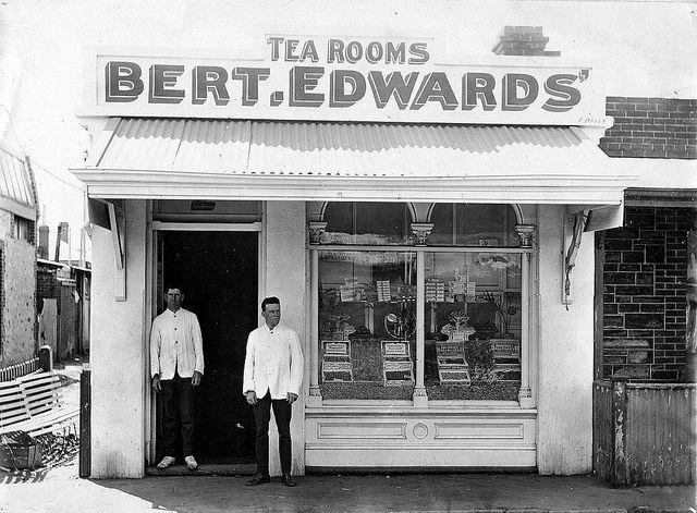 THEN - Bert Edwards Tea Rooms, Compton Street, Adelaide, 1912