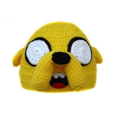 Touca de crochê do Jake (Hora de Aventura)   Crochet hat Jake Adventure Time