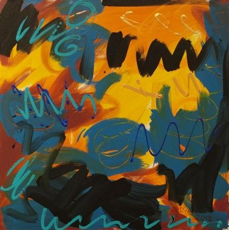 "Agnes Ivan - ""Untitled (Yellow/Orange)"""