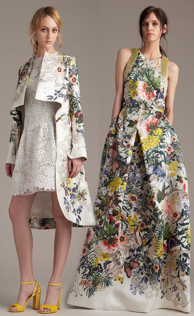 Monique Lhuillier Botanical Prints for Resort 2016