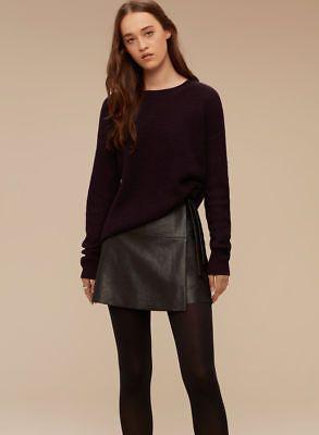 Arirzia-Wilfred-Free-Isabelli-High-Low-Sweater-Crew-Neck-Dark-Purple-Small-XS