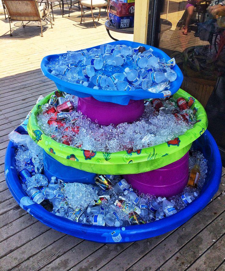 Kiddie Pool Drinks Fountain Baby Shower Pinterest