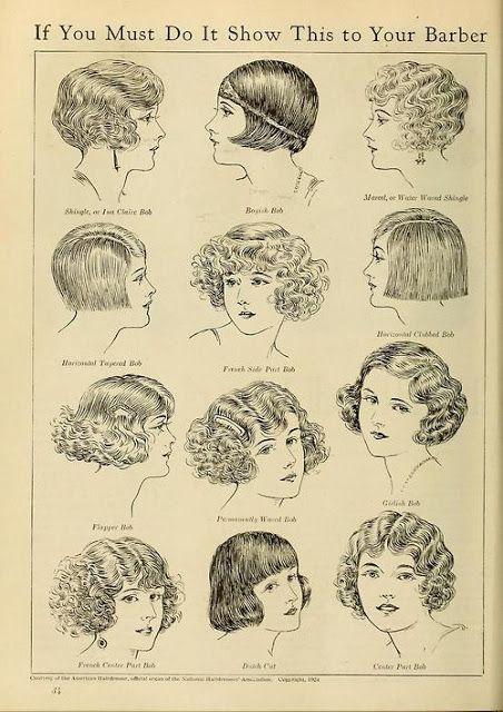 flapper hair...I love the one in the lower right corner.