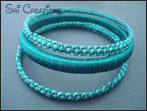 silk thread bangle with macrame knots...